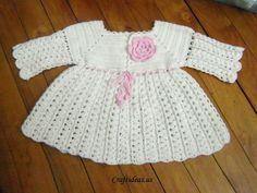 Crochet dress for little girls