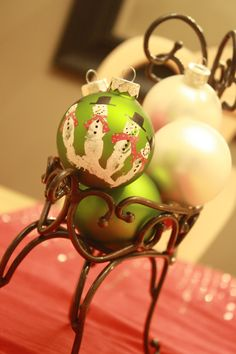 Snowmen Handprint Christmas Ornament