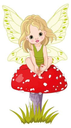 Royalty-Free Vetor Clip Art Illustration of a Cute Fairy Girl Sitting On A Red Mushroom by Pushkin Cute Fairy, Baby Fairy, Art And Illustration, Fairy Clipart, Fairy Drawings, Cute Asian Babies, Mushroom Art, Mushroom Stock, Free Art Prints