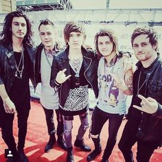 Image about asking alexandria in Bands I love. Emo Bands, Music Bands, Rock Bands, Asking Alexandria The Black, Cameron Liddell, Ben Bruce, Emo Love, The Amity Affliction, Marching Bands