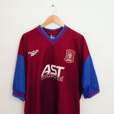 5623b5b38 A truly vintage Aston villa home shirt from 1997.  avfc  astonvilla  retro