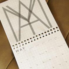 Neutra Typographic Wall Calendar
