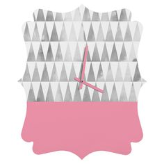 http://www.denydesigns.com/products/georgiana-paraschiv-silver-triangles-quatrefoil-clock