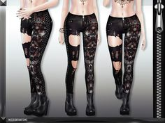 MFS Harley Jeans by MissFortune at TSR via Sims 4 Updates