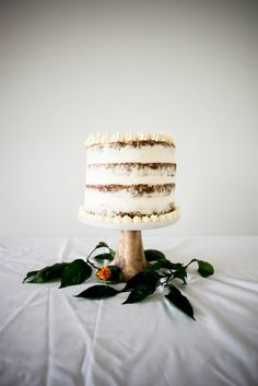 Naked Carrot Cake with Cream Cheese Tahini Frosting