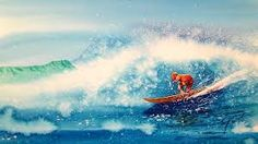 Image result for surfing painting