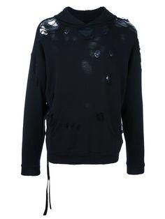 UNRAVEL distressed hoodie. #unravel #cloth #hoodie