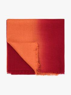 écharpe zoé rouge en laine | agnès b. Wool, Red