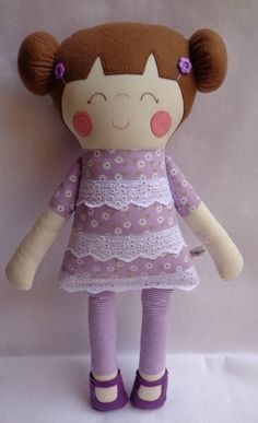 dolls rag doll handmade dolls cute doll by dollsfofurasbyleila