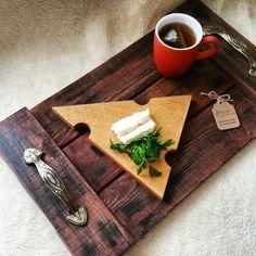 CRNdesignbycerengirgin rustik tepsi ve peynir tahtası / rustic tray and cheese plate