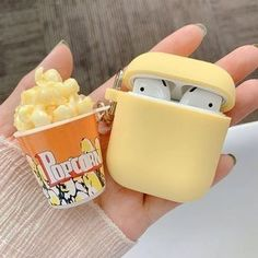 Popcorn Case for Apple Personality Idea Cute Ipod Cases, Girly Phone Cases, Iphone Case Covers, Batterie Iphone, Cute Headphones, Mode Rose, Accessoires Iphone, Foto Baby, Earphone Case