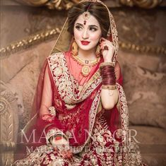 Maha Wajahat Khan - Bride of the day💕 Mua Asian Bridal Dresses, Bridal Mehndi Dresses, Pakistani Wedding Outfits, Bridal Dress Design, Pakistani Wedding Dresses, Bridal Outfits, Pakistani Bridal Hairstyles, Pakistani Bridal Makeup, Indian Bridal Fashion