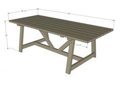 33 super Ideas for diy table base for glass top tutorials Outdoor Couch, Outdoor Table Plans, Patio Table, Diy Table, Outdoor Dining, Outdoor Tables, Picnic Tables, Farm Tables, Wood Tables