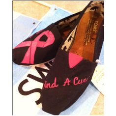 Breast Cancer Awareness custom Toms shoes