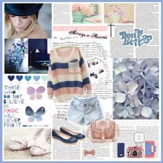 """""""Blue Style"""" by lovelypao ❤ liked on Polyvore"""