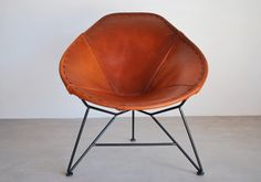 Garza Furniture - Marfa, TX - Oval Saddle Leather Chair