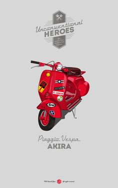 Unconventional Heroes Italian Scooter, Car Illustration, Vespa Lambretta, Vespa Scooters, Motor Scooters, Cars Motorcycles, Bear Design, Design Design, Car Drawings