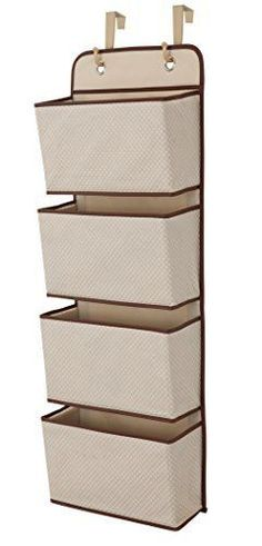 Delta Children 4 Pocket Hanging Wall Organizer Beige