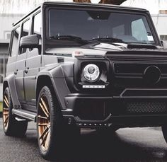 Matte black with rose gold rims. My G-Class Mercedes Benz. ITS LOVE