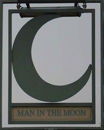 Man in the Moon Pub sign - Broadwater Crescent, Stevenage, Hertfordshire, UK