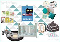 PETITE VINTAGE INTERIORS - DESIGN BOARD FOR BOY'S ROOM