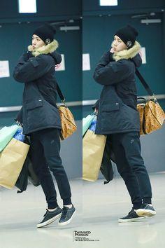 150108- EXO Oh Sehun; Heathrow Airport to Incheon Airport #exok #fashion #style