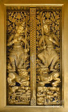 Grand Palace Doors - Bangkok Thailand Photograph - Grand Palace Doors - Bangkok Thailand Fine Art Print - Craig Lovell