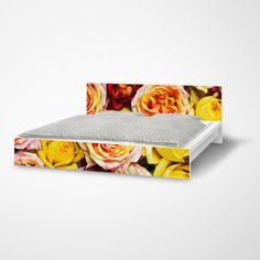 Die Mobelfolie Yellow Rose Fur Dein Malm Bett Ikea