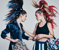 Gigi Hadid and Lily Aldridge take the brightest of the bunch on an energetic romp for spring.