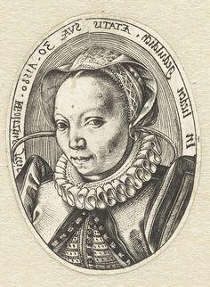 Portret van Margaretha Jansdochter, Hendrick Goltzius, 1580
