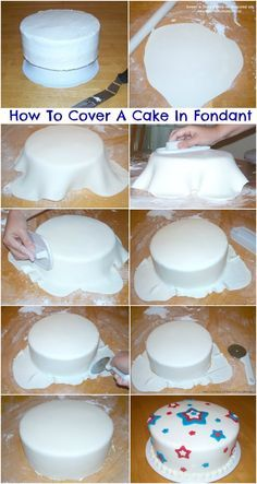 fondant cakes for beginners - Google Search (How To Make Cake Fondant)