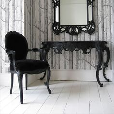 Furniture Black Dining Room Table And 4 Chairs Designer Gothic | EBay |  Black Is Beautiful | Pinterest | Black Dining Room Table, Blacku2026