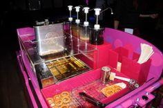 Doughnut Machine | Choose from a selection of flavors - raspberry, white chocolate, caramel or dark chocolate to accompany your doughnuts | Doughnuts Tricycle | Ideas Box | London