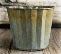 Scalloped Metal Planter Pot 5in - $3.99