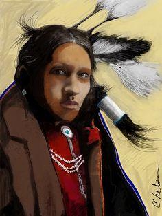 Apache portrait by Craig Nelson