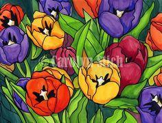 #208 Spring Palette - Carolyn Stich Studio