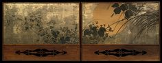 Shibata Zeshin (Japanese, 1807–1891). Autumn Grasses in Moonlight, 19th century. The Metropolitan Museum of Art, New York. The Harry G. C. Packard Collection of Asian Art, Gift of Harry G. C. Packard, and Purchase, Fletcher, Rogers, Harris Brisbane Dick, and Louis V. Bell Funds, Joseph Pulitzer Bequest, and The Annenberg Fund Inc. Gift, 1975 (1975.268.137) | Seen from a low vantage point here, the full moon illuminates the unseen world in a tangle of autumn grasses.
