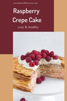 This fantastic Raspberry Crepe Cake recipe is an easy dessert you can make just because you crave something sweet. Delicious and is sure to please your family and friends. Traditional French Desserts, Classic French Desserts, French Dessert Recipes, French Recipes, Sour Cream Desserts, Custard Desserts, Fancy Desserts, Holiday Desserts, Clean Breakfast