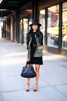 Cuyana dress c/o // Velvet & Graham vest (also love this one) Ralph Lauren belt // J.Crew cuff...
