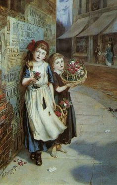 Augustus Edwin Mulready, Little Flower Sellers