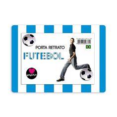 Porta - Retrato Futebol Azul Vertical