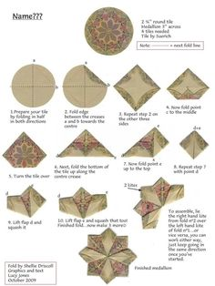 Risultati immagini per sachet de thé tuiles rondes pliantes – Origami Community : Explore the best and the most trending origami Ideas and easy origami Tutorial Fabric Origami, Paper Crafts Origami, Origami Art, Hexagon Quilt, Quilt Block Patterns, Quilt Blocks, Hexagon Patchwork, Sewing Patterns, Quilted Christmas Ornaments