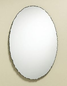 356 – Chiseled edge oval frameless mirror. From rustic to contemporary, a unique look with any home decor.Multiple size options available, please click product to view sizes.