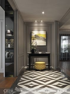 From marble slabs to mosaic patterns, discover the top 50 best entryway tile ideas. Explore rustic to modern foyer flooring design inspiration. Classic Decor, Modern Classic Interior, Foyer Design, House Design, Corridor Design, Planchers En Chevrons, Art Deco, Interior Decorating, Interior Design