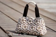 Sewing   Crochet Purse With Lining   African Flower Motif   Free Pattern & Tutorial at CraftPassion.com