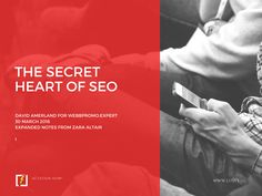 David Amerland on the secret hiding in the heart of SEO. Your brand worthiness depends on the secret.