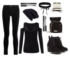 """Black Out"" by bridgescrossed on Polyvore featuring Red Herring, Lanvin, Halogen, J Brand, Charlotte Russe and Boohoo"