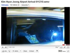 Kim Hyun Joong take it with him in the car
