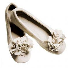 Pampuschen Hausschuh Ballerina Grace, Creme