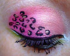Pink Leopard eye shadow.